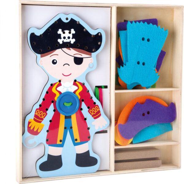 Pirat do ubierania - sznurowanka manualna | SmallFoot