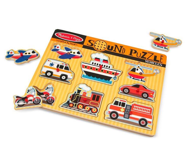 Puzzle dźwiękowe - Pojazdy | Melissa&Doug