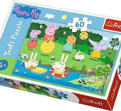 Puzzle Świnka Peppa Wakacyjna zabawa 60el