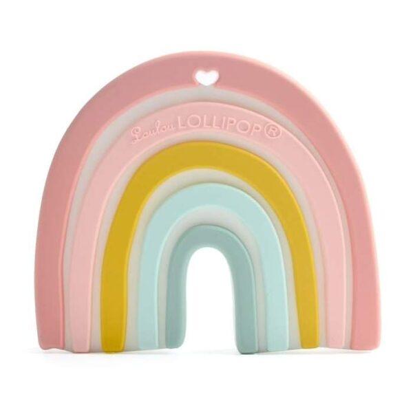 Gryzak silikonowy Pastel Rainbow | Loulou Lollipop