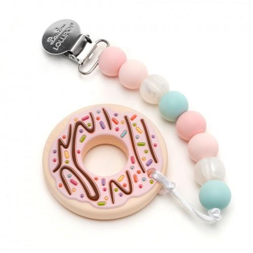 Gryzak silikonowy Donut Pink | Loulou Lollipop