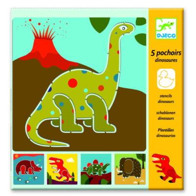 Szablony do odrysowania Dinozaury | Djeco