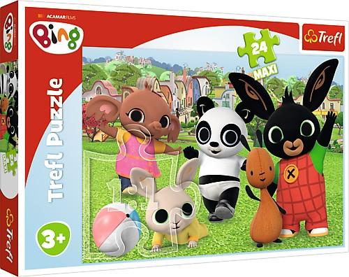 Puzzle 24 elementy Bing - Zabawa w parku | Trefl