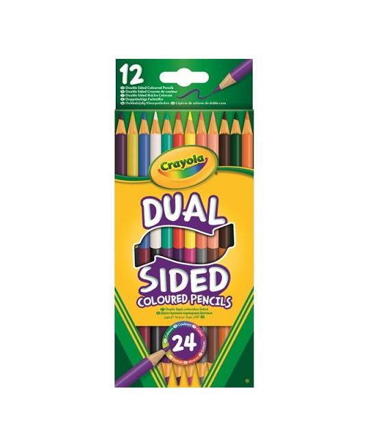 Kredki dwustronne ołówkowe 12szt Crayola