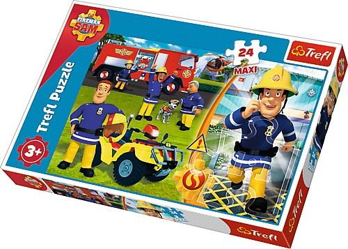 Puzzle 24 elementy Maxi - Dzielny Strażak Sam | Trefl