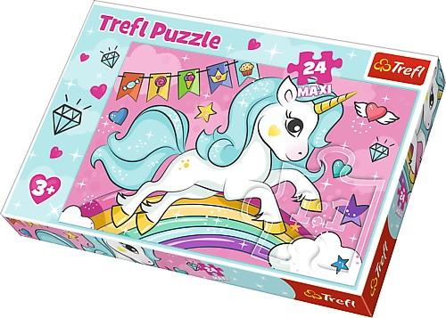 Puzzle 24 elementy Maxi - Słodki Jednorożec | Trefl