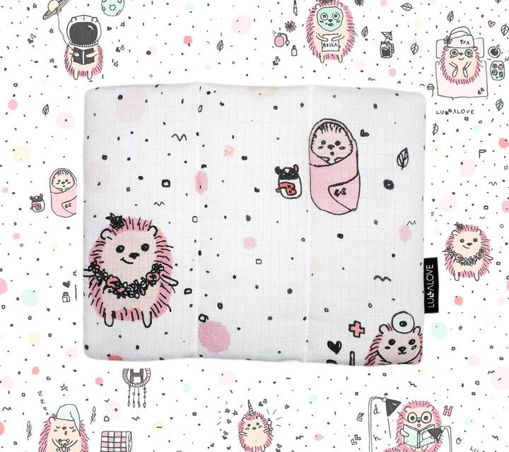 Muślinowa poduszeczka - jeż różowy | Lullalove