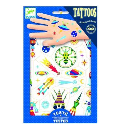 Tatuaże Kosmos świecące w ciemności | Djeco