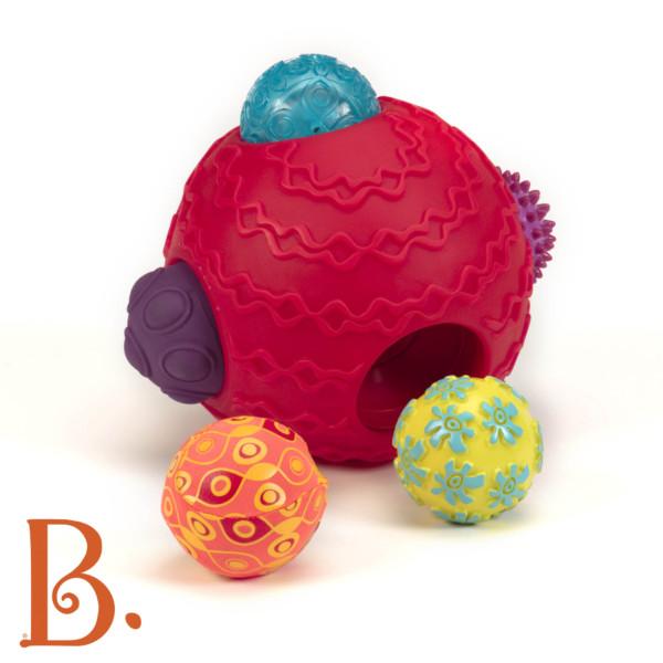 Kula sensoryczna z piłkami Czerwona | B.Toys