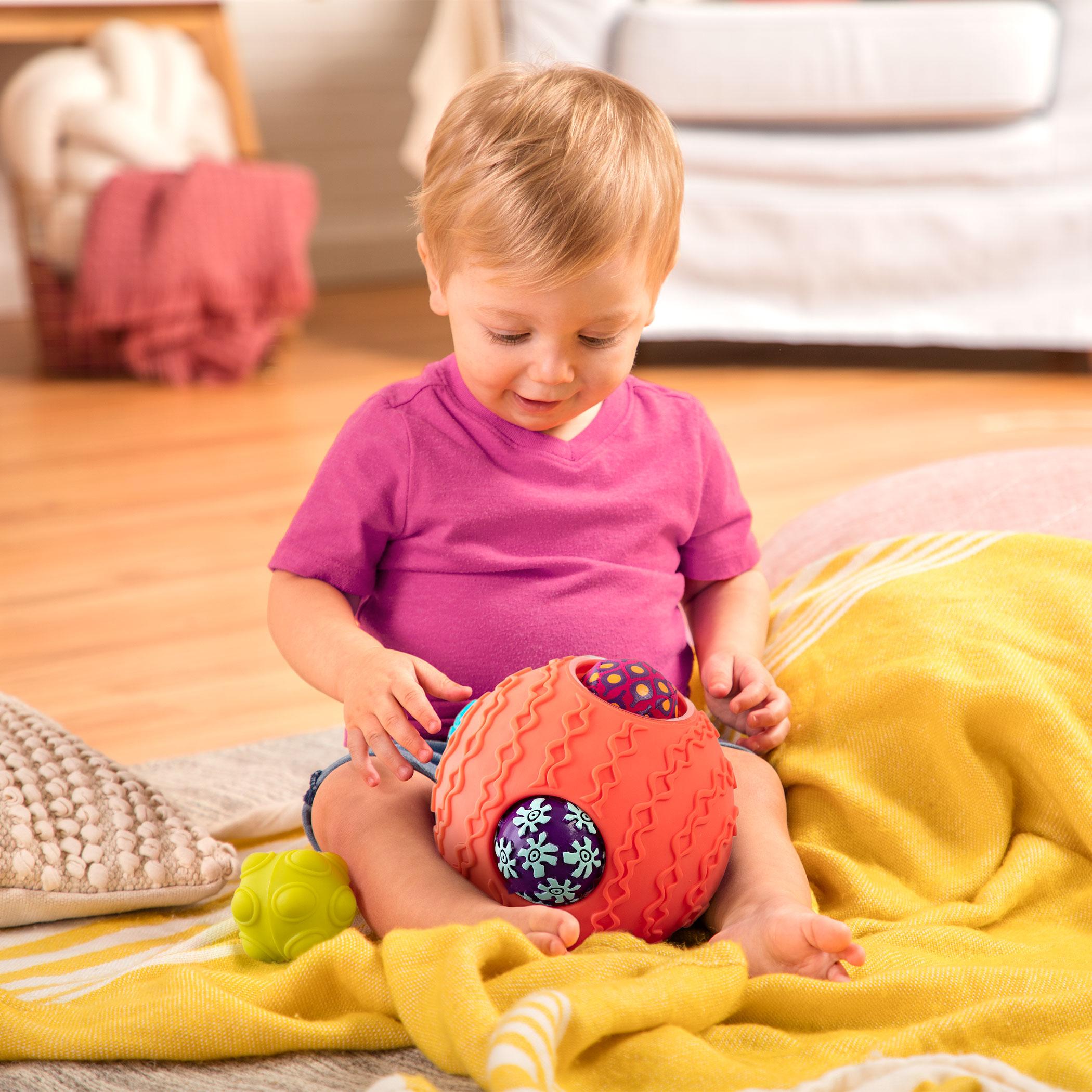 Kula sensoryczna z piłkami Koralowa   B.Toys