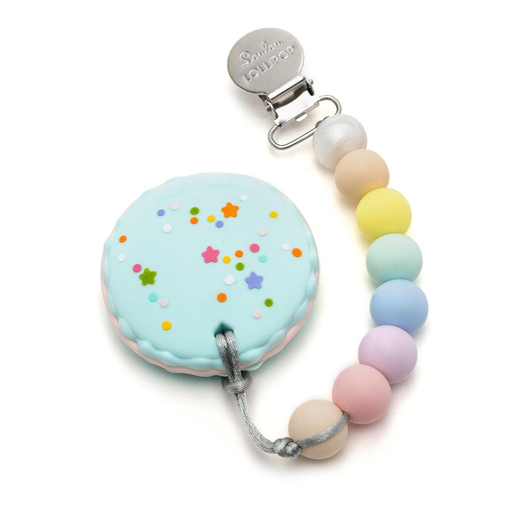 Gryzak silikonowy Macaron | Loulou Lollipop