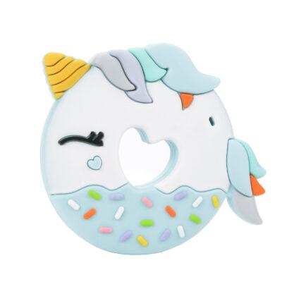 Gryzak silikonowy Donut Blue Unicorn   Loulou Lollipop