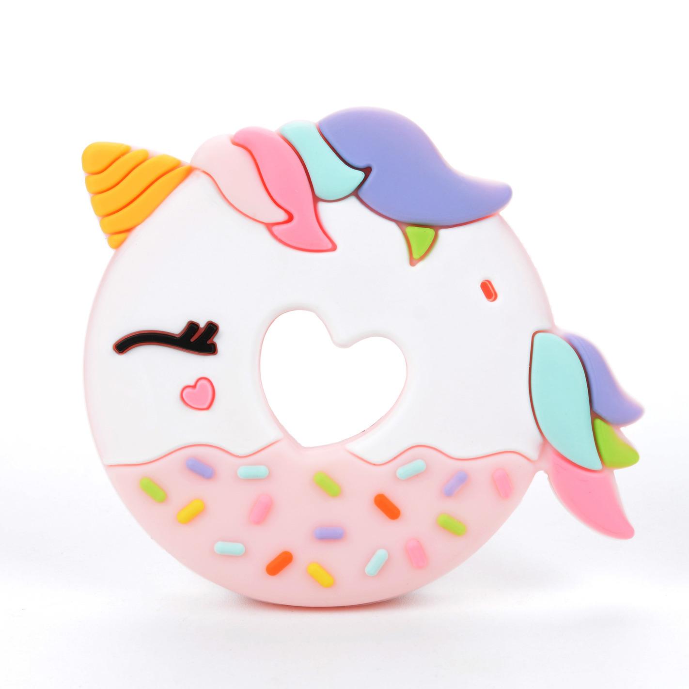 Gryzak silikonowy Donut Pink Unicorn | Loulou Lollipop