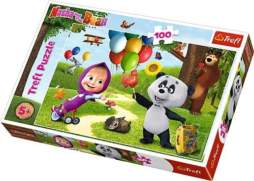 Puzzle 100 elementów - Masza i Niedźwiedź, Przyjaciele | Trefl