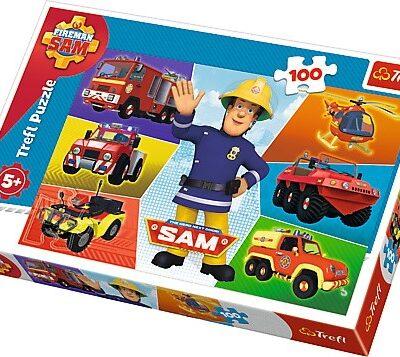 Puzzle 100 elementów - Pojazdy Strażaka Sama | Trefl