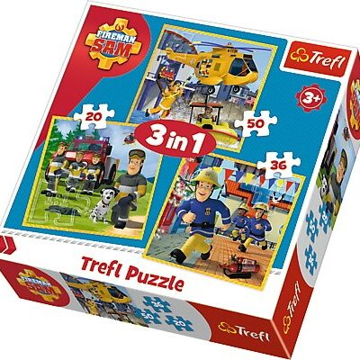 Puzzle 3w1 Strażak Sam - W akcji 20/36/50el | Trefl