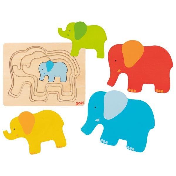 Układanka warstwowa słonik | Goki