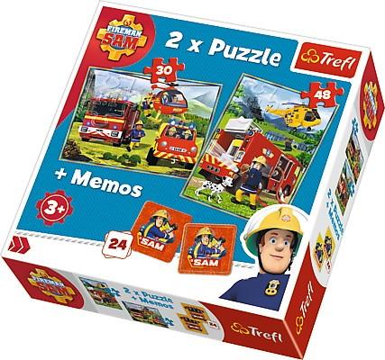 Puzzle x 2 + memo - Strażak Sam, Strażacy w akcji | Trefl