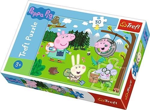 Puzzle Świnka Peppa - Leśna wyprawa 30el | Trefl