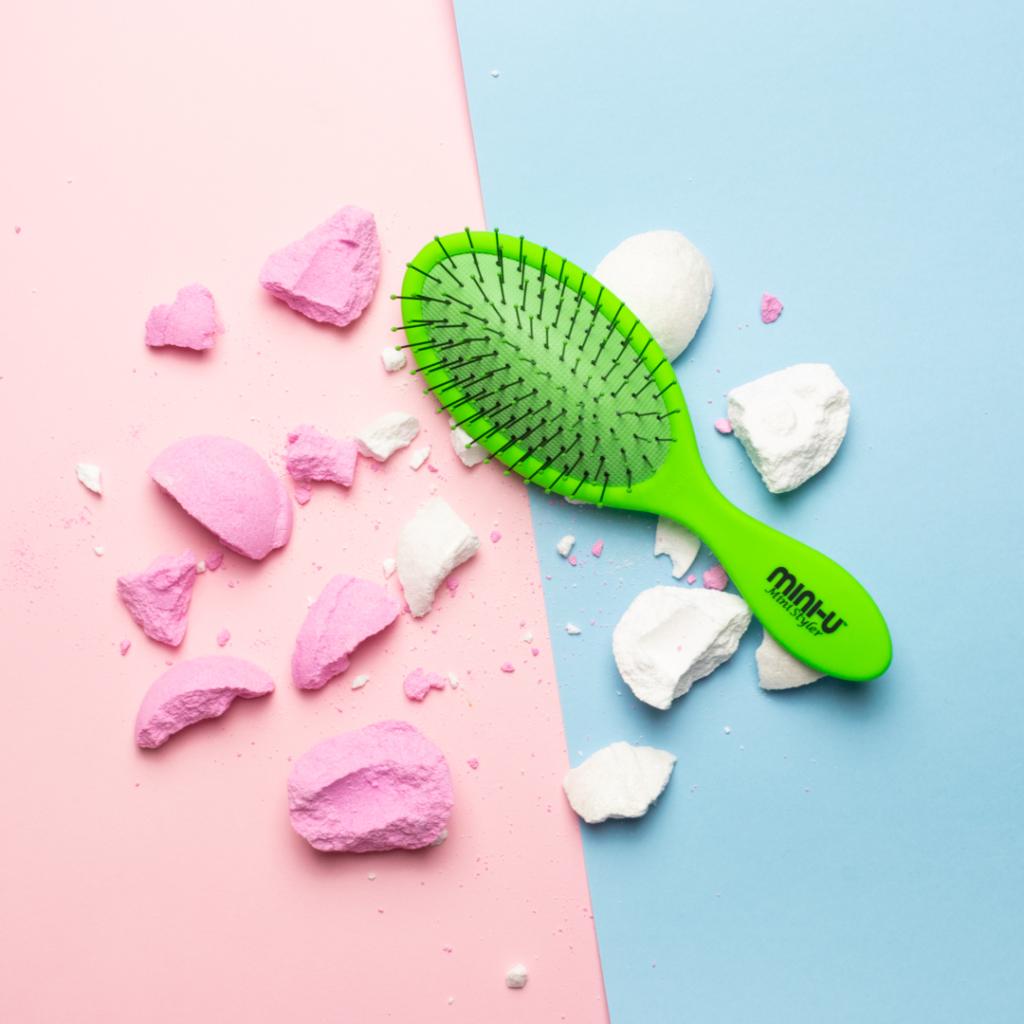 Szczotka do włosów Mini Styler Zielona | Miniu