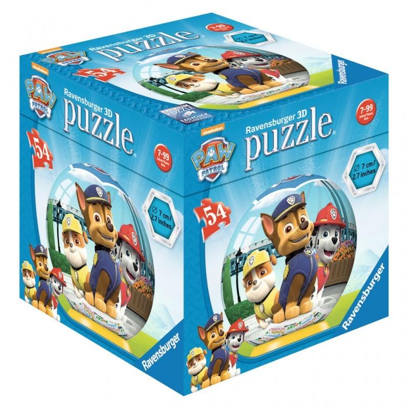 Puzzle 3d kuliste 54el Psi Patrol | Ravensburger