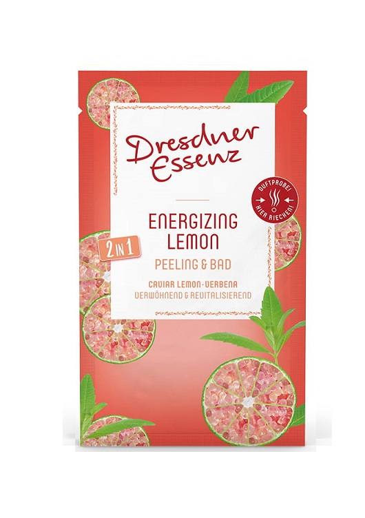 Energetyzująca cytryna 2w1 peeling&sól 60g   Dresdner Essenz