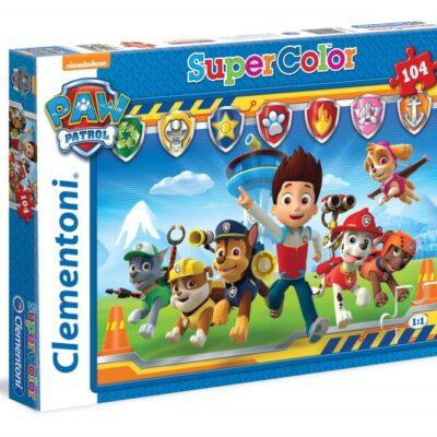 Puzzle Psi Patrol ekipa super kolor 104el | Clementoni