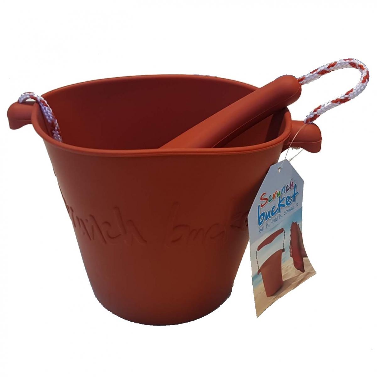 Składane wiaderko do wody i piasku Scrunch Bucket – Rust