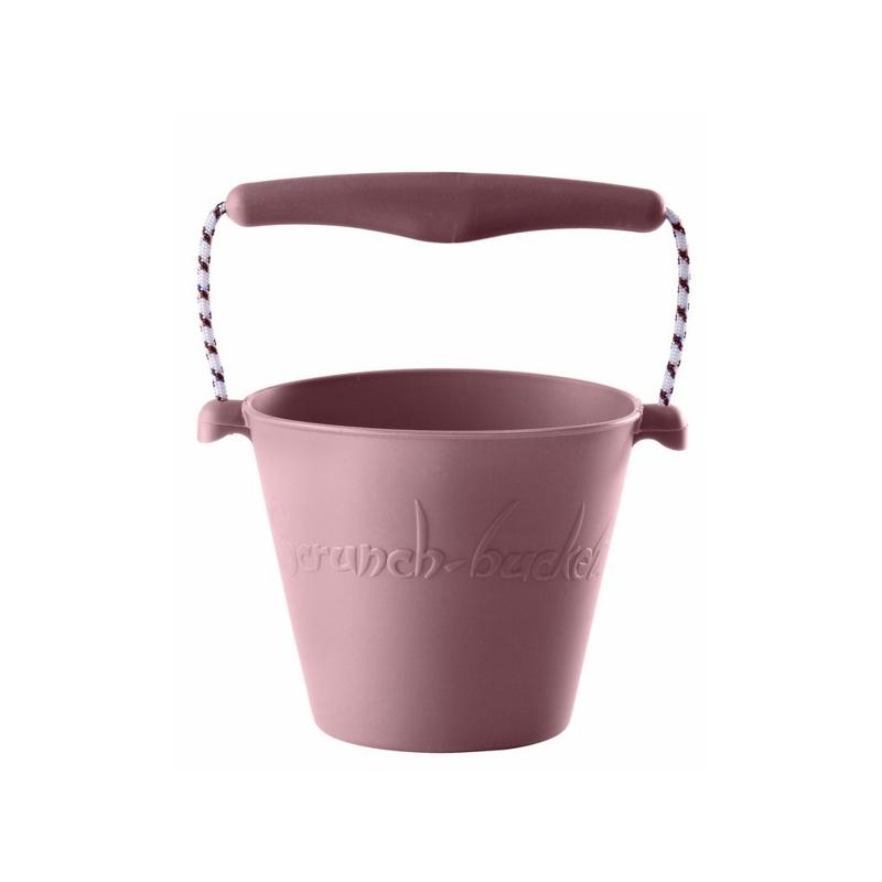 Składane wiaderko do wody i piasku Scrunch Bucket - Pudrowy Róż