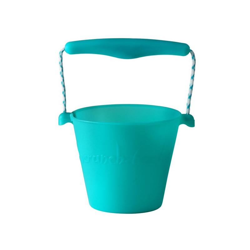 Składane wiaderko do wody i piasku Scrunch Bucket - Turkusowy