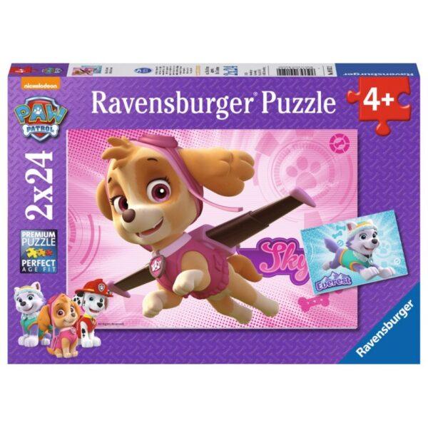 Puzzle Psi Patrol Skye i Everest 2x24el   Ravensburger