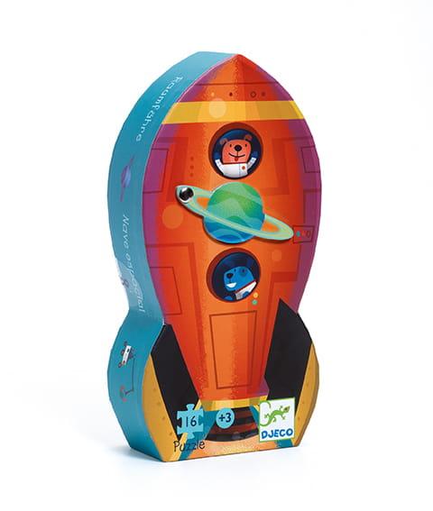 Puzzle statek kosmiczny 16el | Djeco