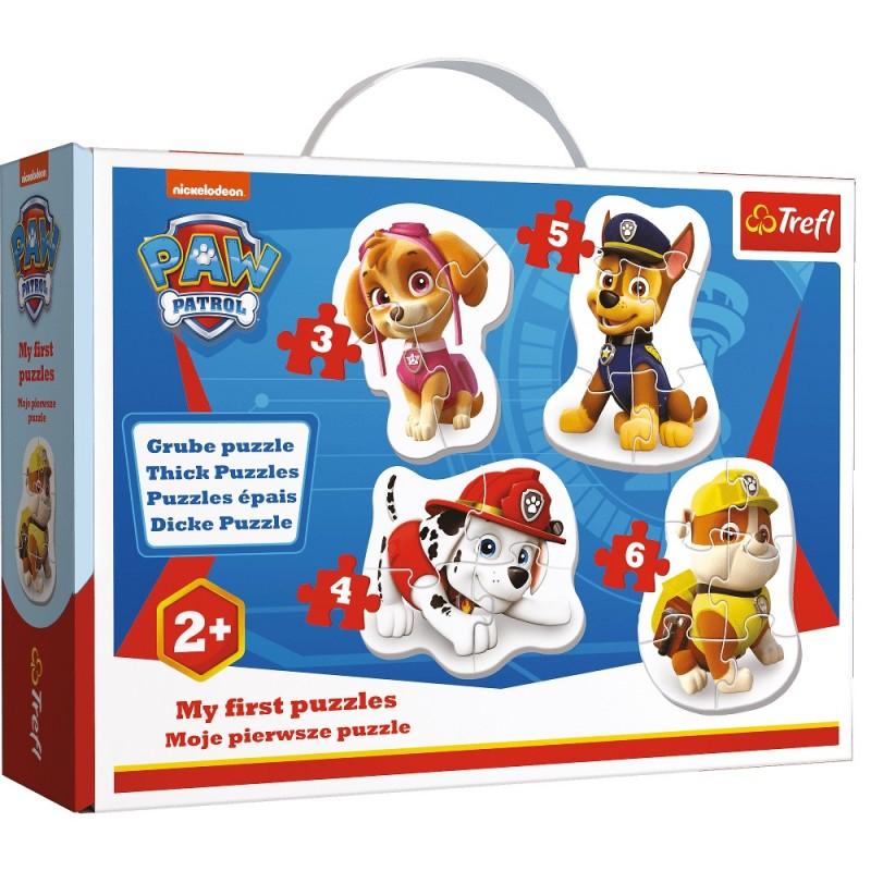 Puzzle w walizce Baby Psi Patrol 3/4/5/6 elementów | Trefl