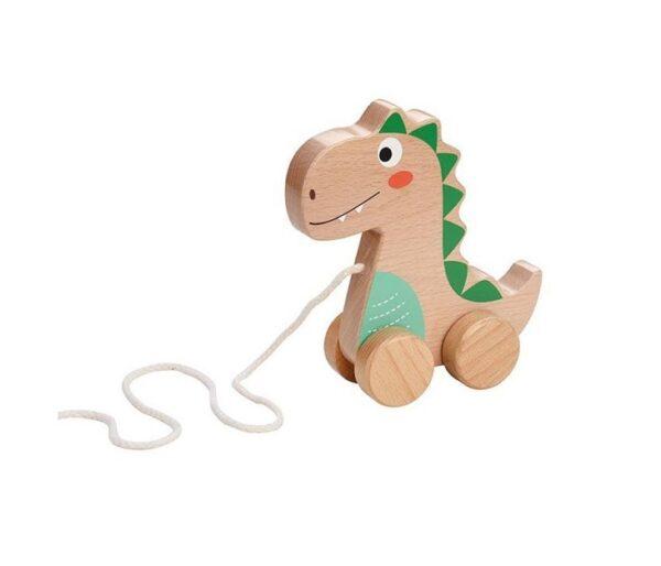 Dinozaur na sznurku do ciągnięcia   Lelin