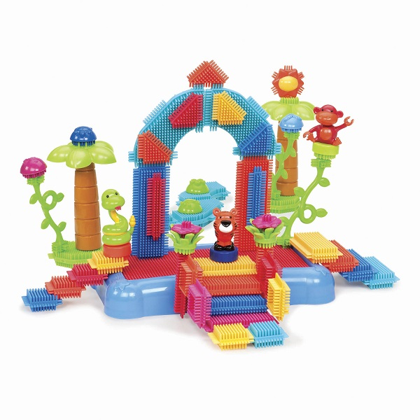 Klocki jeżyki Dżungla w pojemniku 58el | B.Toys