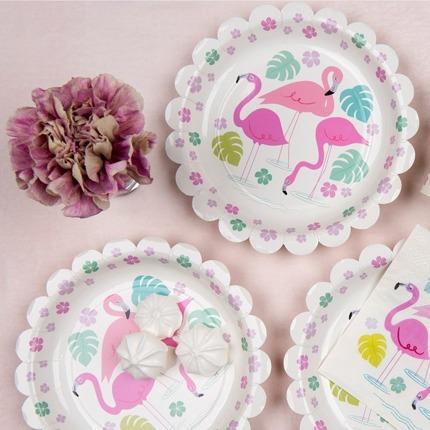 Talerzyki papierowe 8 szt., Flamingo Bay | Rex London