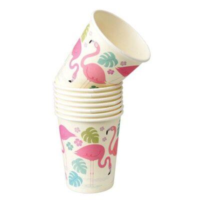 Kubki papierowe 8 szt., Flamingo Bay   Rex London