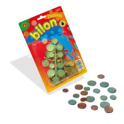 Pieniądze - bilon do zabawy w sklep   Aleksander