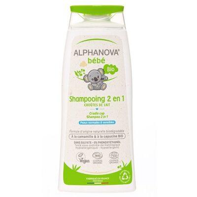 Alphanova Bebe, Delikatny szampon do włosów Bio, 200 m