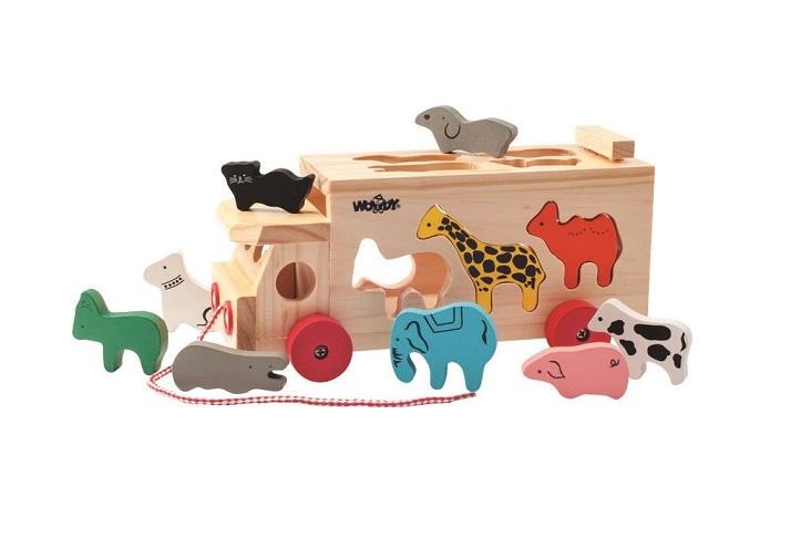 Ciężarówka - sorter ze zwierzętami | Woody