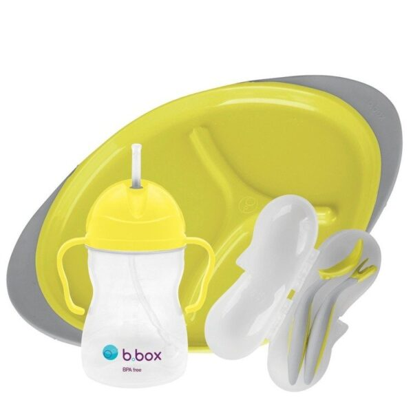 Zestaw do karmienia, Lemon Sherbet   B.Box