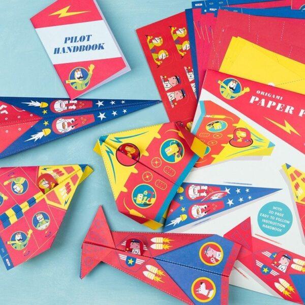 Papier dwustronny origami do tworzenia samolotów   Rex London