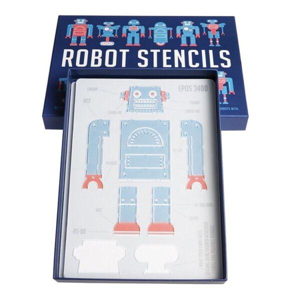 Roboty, szablony do malowania, 4 szt. | Rex London