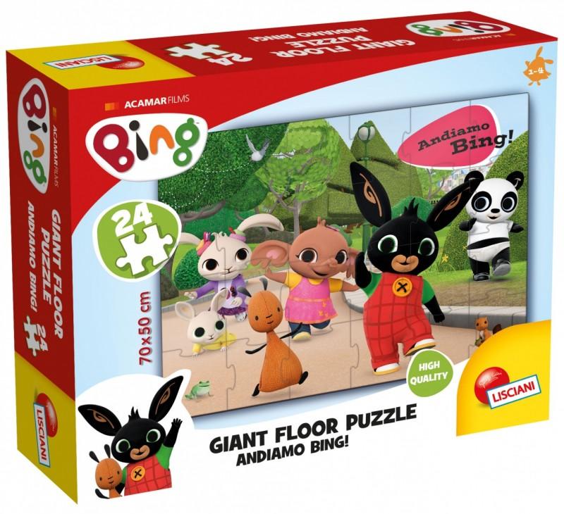 Bing Ogromne puzzle podłogowe 24el | Lisciani
