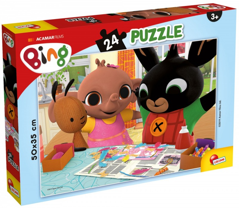 Bing puzzle plus 24el Prace plastyczne | Lisciani