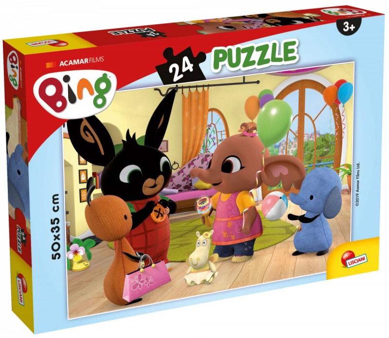 Bing puzzle plus 24el 50x35cm Bing i przyjaciele | Lisciani