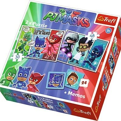Pijamersi Memo + 2x Puzzle 30 i 48el   Trefl