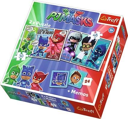 Pijamersi Memo + 2x Puzzle 30 i 48el | Trefl