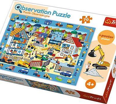 Puzzle obserwacyjne 70el Plac budowy | Trefl