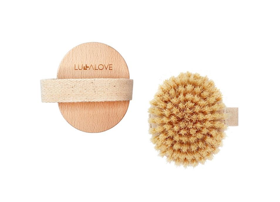 Limited szczotka tampico do masażu na sucho okrągla   Lullalove